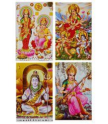 Hindu Gods and Goddesses - Set of 4 Stickers