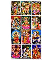 12 Miniature Deity Stickers