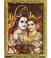 Buy Plastic Framed Shiva Parvati Picture