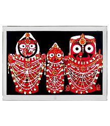 Jagannath, Balaram, Subhadra - Acrylic Table Top