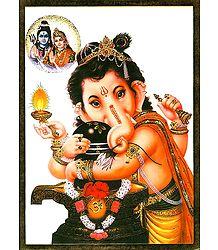 Ganesha Embrace Shiva