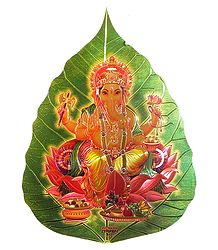Ganesha on Pipul Leaf