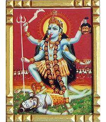 Framed Mahakali Picture