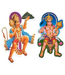 Hanuman Picture on Sticker