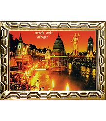 Bank of River Ganges in Haridwar - Photo Print