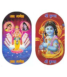 Lord Krishna and Ganesha Sticker