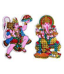 Hanuman and Ganesha Sticker