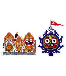 Jagannath, Balaram, Subhadra on Sticker