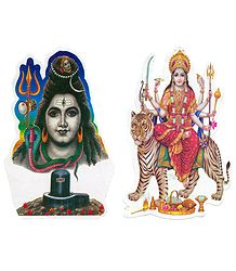Shiva & Bhagawati on Sticker
