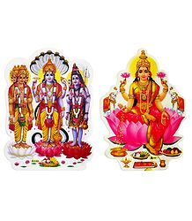Brahma, Vishnu, Shiva and Lakshmi Sticker