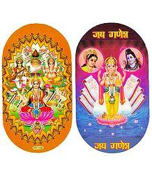 Hindu Deities and Ganesha - Set of 2 Stickers