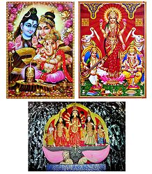 Hindu Deities - Set of 3 Posters
