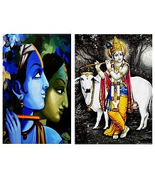 Radha, Krishna - Set of 2 Posters