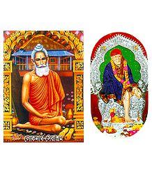 Loknath Baba and Shirdi Sai Baba Sticker