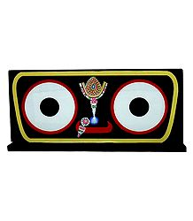 Eyes of Sri Jagannath Picture on Hardboard - Table Top