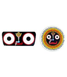 Face of Jagannathdev on Stickers
