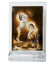 Makhan Chor Krishna and Balaram - Acrylic Table Stand