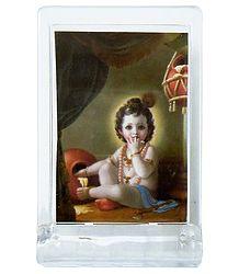 Makhan Chor Krishna - Acrylic Table Stand