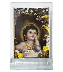 Nature Lover Krishna - Acrylic Table Stand