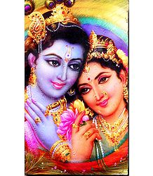 Radha Krishna - Laminated Table Top