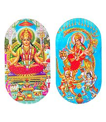 Lakshmi and Bhagawati Sticker