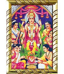 Satyanarayan - Table Top Framed Picture