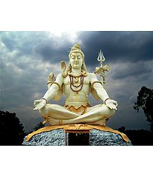 Shiva Statue in Bijapur - Photographic Print