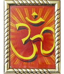 Framed Om Picture