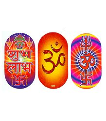 Shubh Labh and Om Sticker