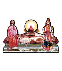 Swami Vivekananda and Kanyakumari - Picture with Stand
