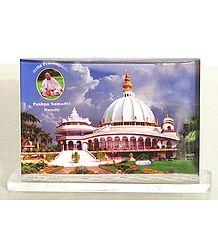 Prabhupada Samadhi Mandir - Acrylic Framed Table Top Picture