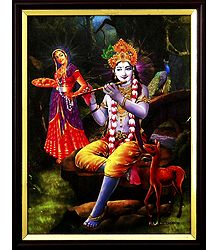 Radha Listening Krishna's Flute