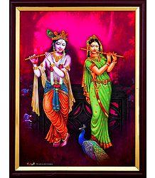 Radha Krishna Playing Flute