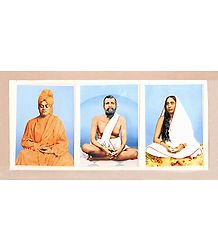 Ramkrishna Dev, Sarada Ma and Swami Vivekananda in Acrylic Casing - Poster