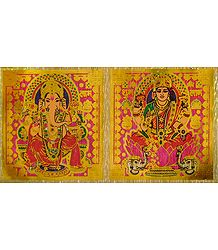 Lakshmi and Ganesha