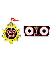 Face of Jagannathdev - Set of 2 Stickers