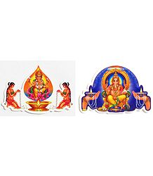 Ganesha and Ayyappan - Set of Two Stickers