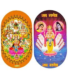 Hindu Deities and Ganesha - Set of 2 Stickers