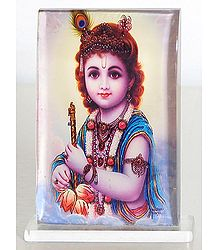 Young Krishna - Acrylic Table Stand