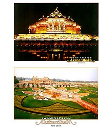 Akshardham Temple, New Delhi - 2 Small Posters