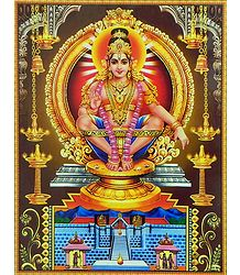 Lord Ayyappan Poster with Plastic Lamination