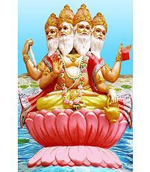 Lord Brahma - Photographic Print