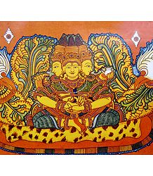 Lord Brahma - Temple Mural Poster