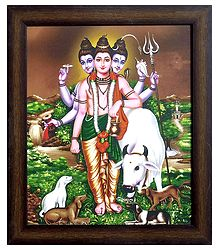 Dattatreya on Laminated Board - Wall Hanging