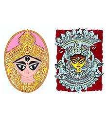 Goddess Durga - 2 Small Posters