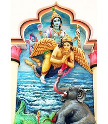 The Liberation of Gajendra by Lord Vishnu