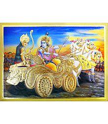Gita Updesh By Krishna To Arjuna in Kurukshetra War