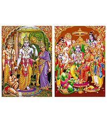 Ram Darbar Glitter Posters