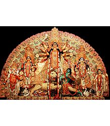 Durga with Family - Photographic Print