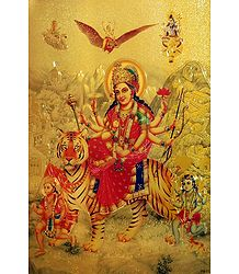 Bhagawati - Golden Metallic Poster